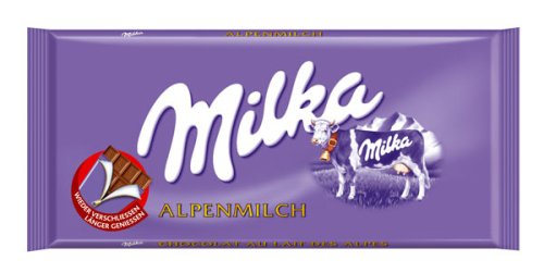Milka Milk chocolate 100g.