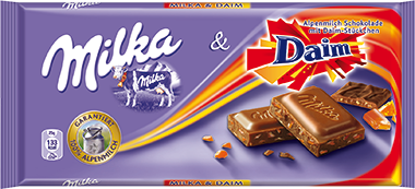 Milka and Daim 100g